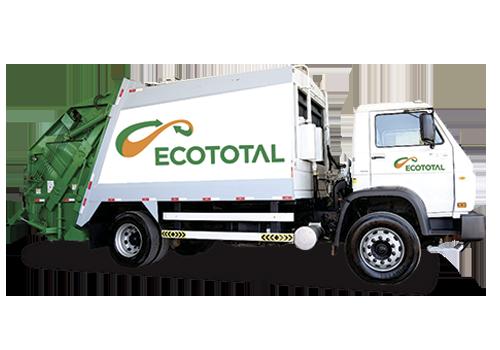 caminhao compactador de lixo ecototal